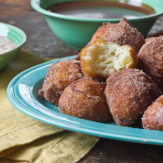Churros Balls with Warm Chocolate Dipping Sauce