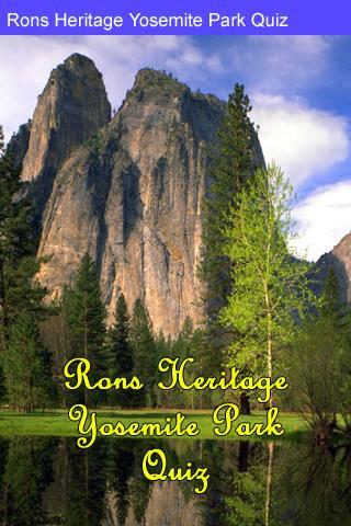 Rons Yosemite Park Quiz
