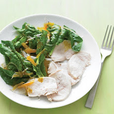 Chicken with Curried Spinach Salad