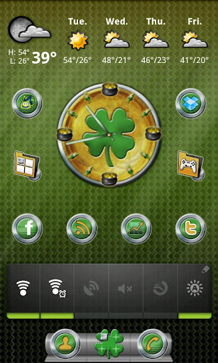 St. Patrick's Day Clock