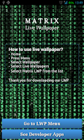 Screenshot of Matrix Live Wallpaper