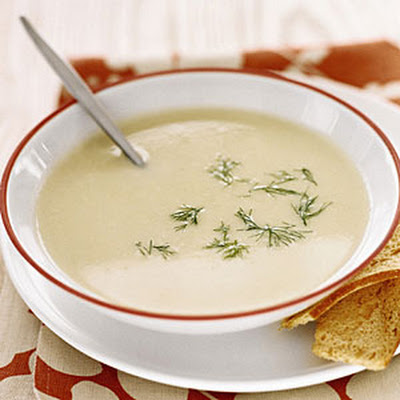 Creamy Mashed Potato and Leek Soup