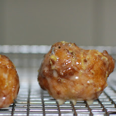Orange-Cardamom-Maple glazed Puff Puffs