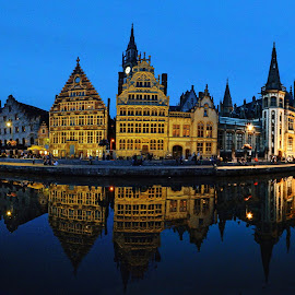 BLEU by Tonino De Rubeis - City,  Street & Park  Historic Districts ( belgio, gand, belgium, ghent )