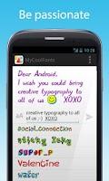 Screenshot of Fontself Pix - color messages
