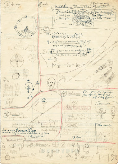 In his autobiographic notes, Otlet noted that 'I find that I must draw certain ideas, certain graphics. And it is in my mind that I make the movements that draw: a circle, a triangle, a line'.