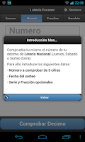 Screenshot of LOTERIA Escaner Sorteos