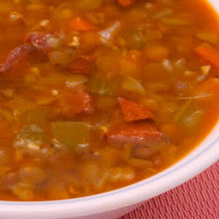 Lentil and Sausage Soup with Cabbage