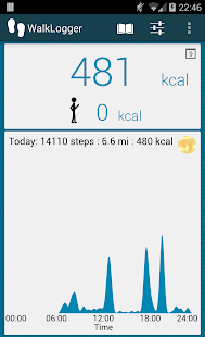 WalkLogger pedometer Screenshot