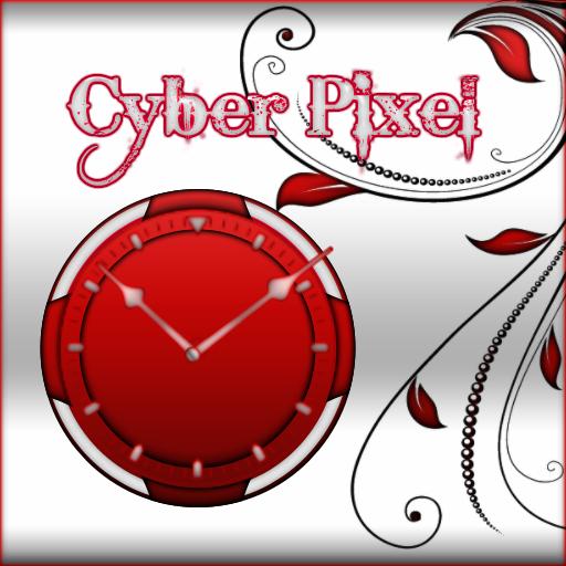 個人化必備App Red and White Clock LOGO-綠色工廠好玩App