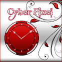 Red and White Clock icon