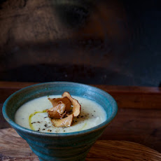 Sunchoke Soup with Crispy Chips & Rosemary