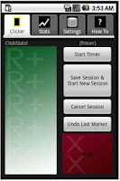 Screenshot of ClickStats Clicker Training