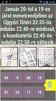 Screenshot of Miskolc  menetrend