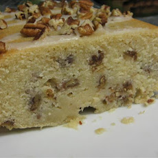 Cream Cheese Bourbon Pecan Pound Cake