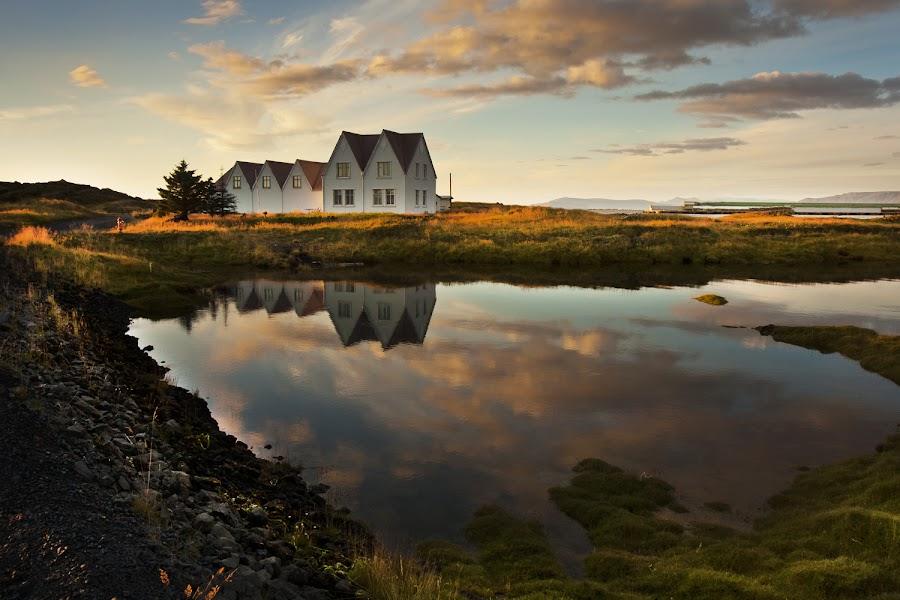 Straumur Iceland by Anna Guðmundsdóttir - Buildings & Architecture Homes ( iceland, sunset, ísland, straumur,  )