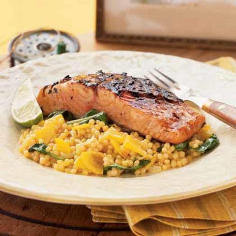 Spinach Couscous Salmon Recipes