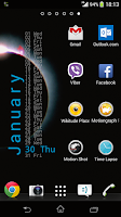 Screenshot of Xperia Calendar Widget