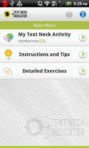 Text Neck Indicator