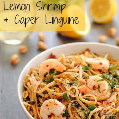 Lemon Shrimp and Caper Linguine