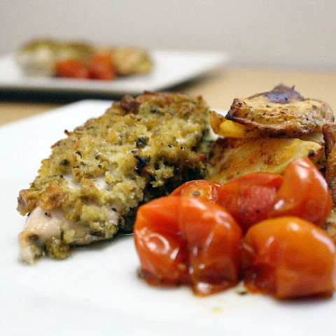 Crumbly Chicken Stuffed With Pesto