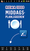 Screenshot of Middagsplanleggeren