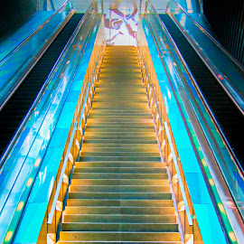 Stairway to heaven by Vibeke Friis - Buildings & Architecture Architectural Detail ( stairs, metro,  )