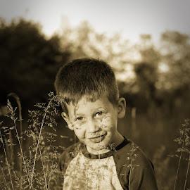 childhood by Kenan G Kurtovic - Babies & Children Child Portraits ( canon, grace, games, eos, trees, children, meadows, childhood )