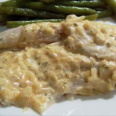 Baked Fish in Mayonnaise and Mustard