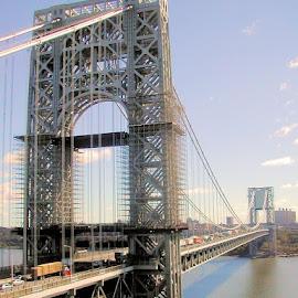 George Washington Bridge by Don Webb - Buildings & Architecture Bridges & Suspended Structures ( george washington bridge, new york city )