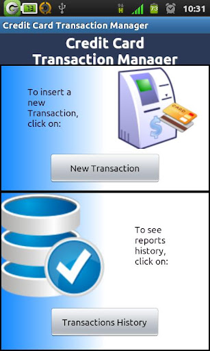 Credit Card TransactionManager