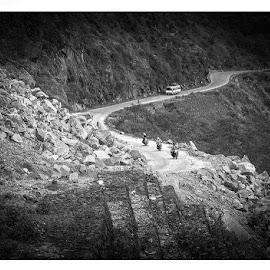 bikers enroute by Pankaj Ghosh - Landscapes Travel