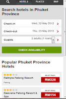 Screenshot of Hotels Thailand