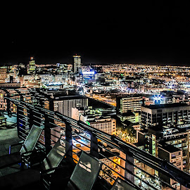 Johannesburg, the city with lights that live. by Alexius van der Westhuizen - Buildings & Architecture Office Buildings & Hotels ( lights, life, views, power, cityscape, landscape, energy,  )