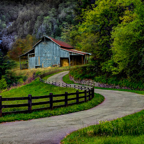 Blue Ridge Parkway Collage by Steven Faucette - Landscapes Mountains & Hills ( mountain, barn, waterfall, blue ridge parkway, moses cone )