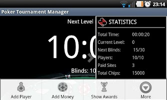 Screenshot of Poker Tournament Manager