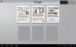Screenshot of Diario Tiempo Argentino