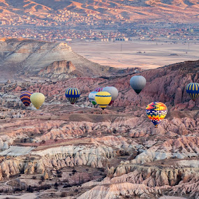 cappadocia by Sorin Tanase - Landscapes Travel ( turkey, sunrise, landscape, balloons, cappadocia )