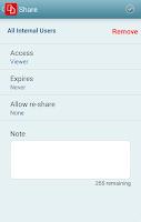 Screenshot of Novell Filr