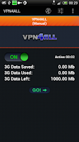 Screenshot of VPN4ALL Mobile