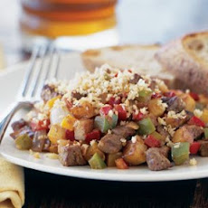 Flank Steak Hash with Bell Peppers