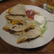Beef, Blue Cheese and Spinach Quesadillas