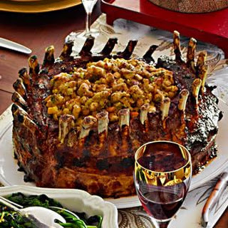 Crown Roast of Pork with Apple and Hazelnut Stuffing