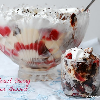 Black Forest Cherry Ice Cream Dessert