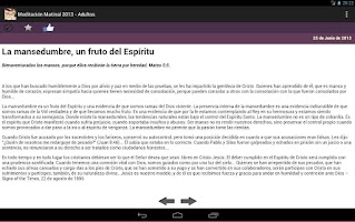 Screenshot of Meditacion Matutina 2013