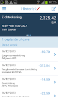 Screenshot of Mobile Banking Service