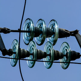 Pretty Pylons by John Cope - Abstract Patterns ( relais villa d'assio, cables, rieti, glass, electrical pylons )