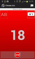 Screenshot of Archery timer