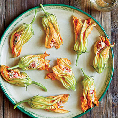 Pimiento Cheese-Stuffed Squash Blossoms