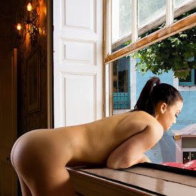 Spanish Siesta by Mike Lloyd - Nudes & Boudoir Artistic Nude ( nude, girl, window )